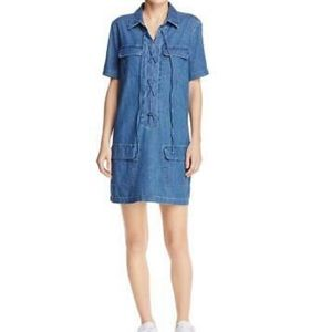 Equipment Femme Knox blue chambray dress